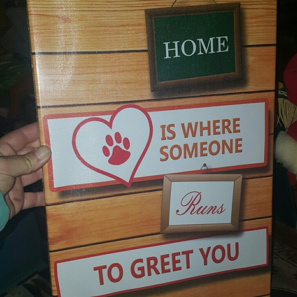 FestaPrint Other - Home is where... Paw Print Cat/Dog Wrapped Sign